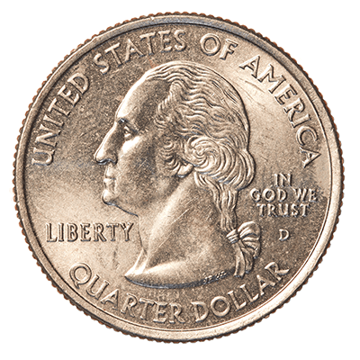 Front side of a coin.