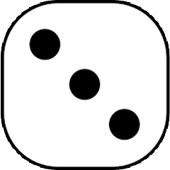 Dice with value of 3
