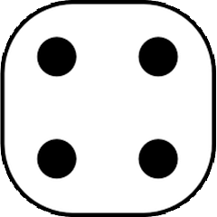Dice with value of 4
