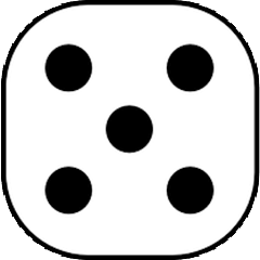 Dice with value of 5