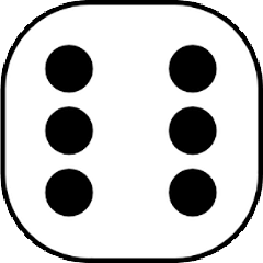 Dice with value of 6