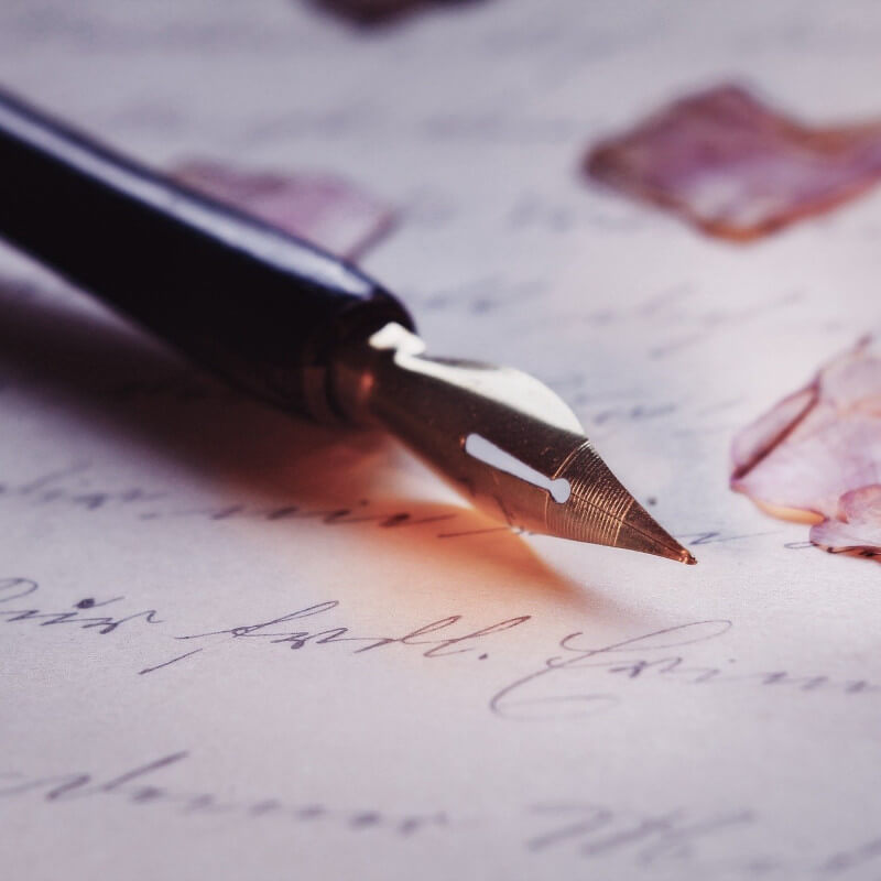 sample of writing with an old-fashioned fountain pen