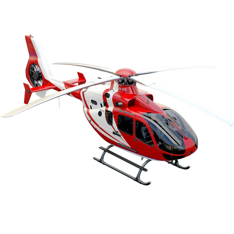 red model helicopter